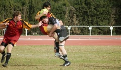 Gerry playing rugby for Albacete