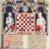 Alfonso X playing chess