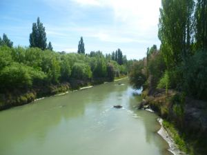 The Río Chubut, the river along which the Welsh eventually settled.  The local Tehuelche indigenous population taught them how to irrigate its waters and subsequently farm the surrounding land.
