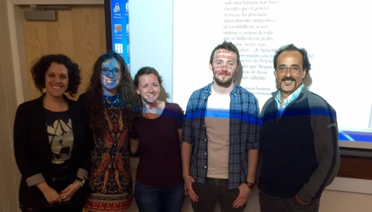 Staff and students with Prof Correa-Díaz for the translation workshop