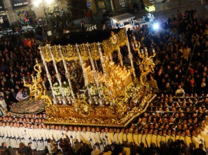 A tronos in Málaga's Holy Week procession