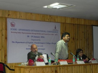 Dr Ian Magedera in Chandernagore. Credit : Kaustav Roy