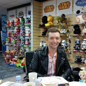 Terence Conchie making selections from Disney merchandising for P&O Ferries