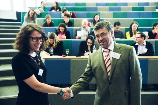 Ailsa Peate is awarded the Harold Blakemore prize by SLAS President, Professor Jens Hentschke