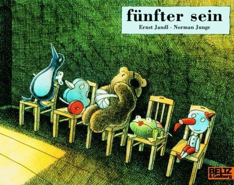 The illustration for Ernst Jandl 'fünfter sein', by Norman Junge (Weinheim: Beltz 2004)