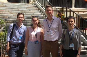 Will Amos, Elizabeth Burgess, Dr Robert Blackwood, and Dr Stefania Tufi at the 21st Sociolinguistics Symposium