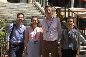 Will Amos, Elizabeth Burgess, Dr Robert Blackwood, and Dr Stefania Tufi at the 21st Sociolinguistics Symposium