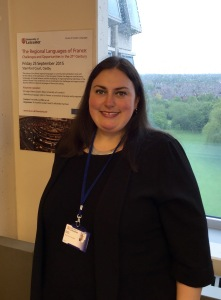 Dr Michelle Harrison in her office at the University of Leicester