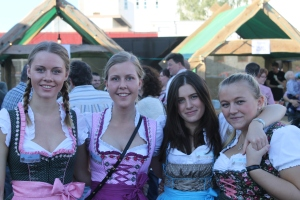 Molly Evans (second from right) at an Oktoberfest during her Year Abroad