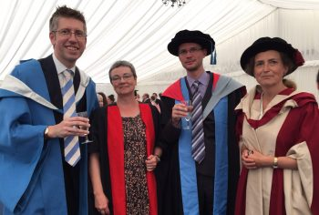 Modern Languages staff celebrating their students' achievements
