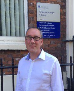 Professor Matthew Philpotts arrives at the University of Liverpool