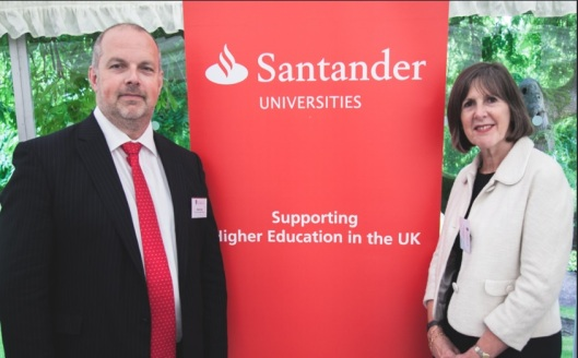 Mr X from Santander and the Vice Chancellor, Professor Janet Beer (Copyright: the University of Liverpool)