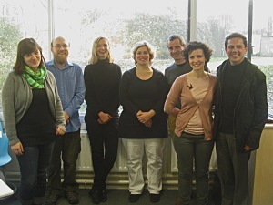 Dr Ulrike Bavendiek (third from left) and some members of the Languages Teaching Team
