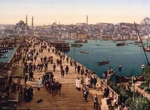 Kara-Kevi Galata Bridge, Constantinople