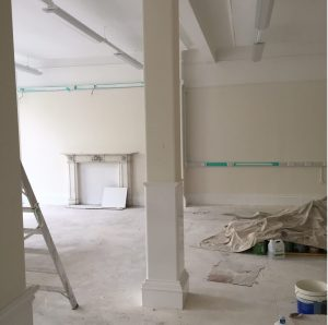 The new languages centre, during the refurbishment