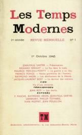 Les Temps Modernes, edited by Jean-Paul Sartre