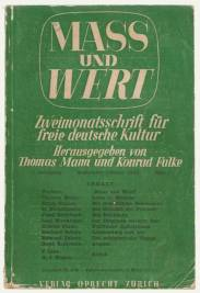 Mass und Wert, edited by Thomas Mann