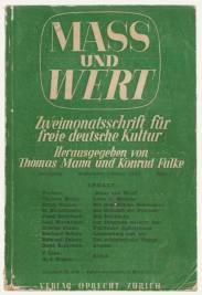 Mass und Wert, edited by Thomas Mann